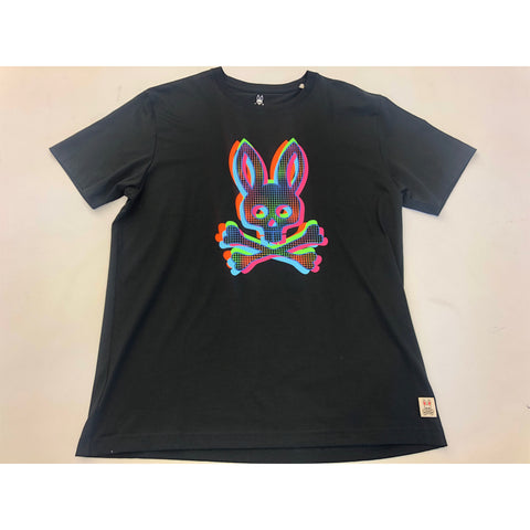 MENS PSYCHO BUNNY TEE SHIRT - BLACK