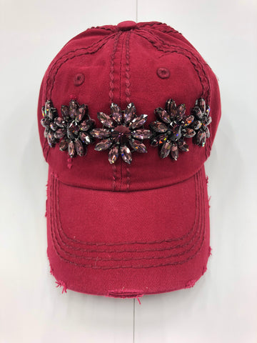 Glitz Wine Detail Baseball Cap