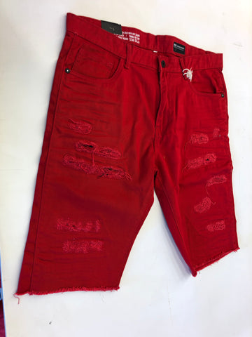 Smoke Rise Red Twill Shorts