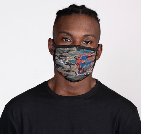 Smoke Rise Camo Face Fashion Mask