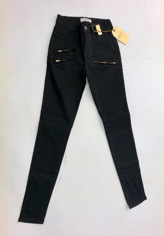 Black Pants W/Multi Zipper