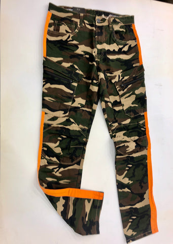 Camo Orange Strip Pants