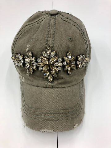Glitz Green Detail Baseball Cap