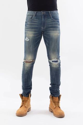 RIP AND REPAIR SUPER STRETCH DENIM PANTS