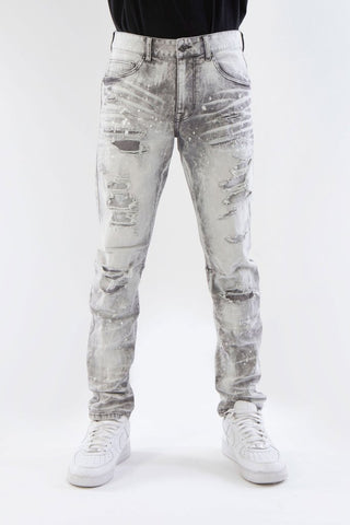 HEAVY RIP & REPAIR DENIM PANTS