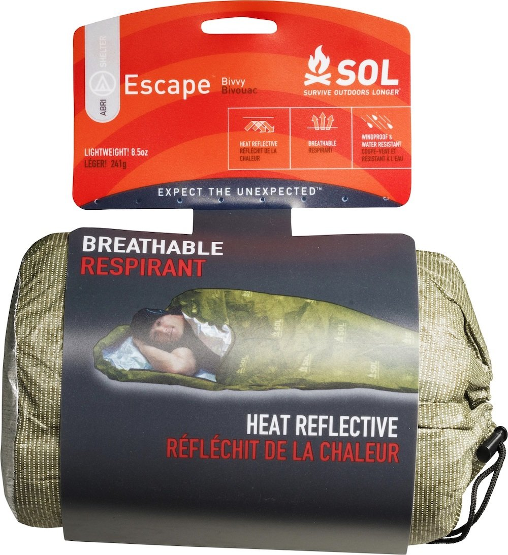 SOL Escape Bivvy in packaging