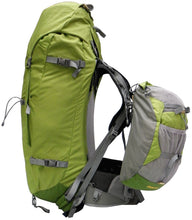 Load image into Gallery viewer, Side view of Aarn Hiking Pack with front pockets
