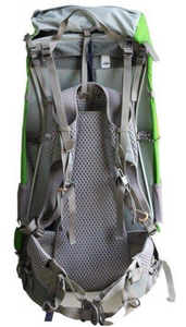 Aarn Peak Aspiration pack, view of padded straps and waist belt