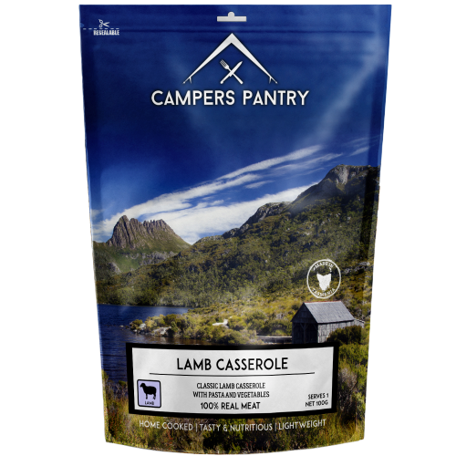 Campers Pantry Lamb Casserole Meal in packaging
