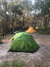 Load image into Gallery viewer, Wilderness Equipment Space 2 tent pitched at campsite surrounded by trees