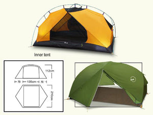 LUXE Habitat NX3 Tent internal dimensions and floor area