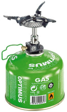 Load image into Gallery viewer, Crux Lite stove attached to gas canister