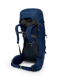Osprey Volt 60 Pack-back view showing waistbelt and shoulder straps