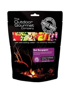 Outdoor Gourmet Beef Bourguignon Freeze-dried Meal - Serves 2
