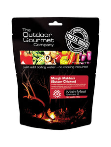 Outdoor Gourmet Butter Chicken Freeze-dried Meal - Serves 2