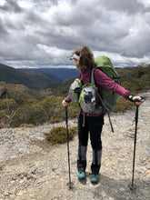 Load image into Gallery viewer, Young female hiker wearing Sea to Summit Nylon Overland Gaiters whilst hiking