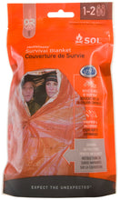 Load image into Gallery viewer, SOL Emergency Survival Blanket (1-2 Person)