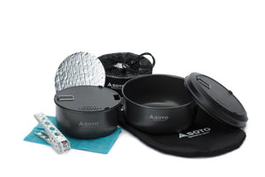 SOTO Navigator cook set showing all inclusions