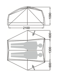 Wilderness Equipment Space 2 Tent internal dimensions