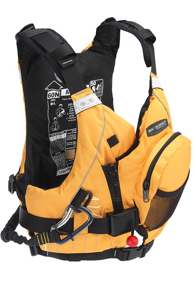Sea to Summit Leader PDF side front view highlighting pockets and whistle