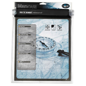 Sea to Summit clear waterproof map case with map inside for display purposes