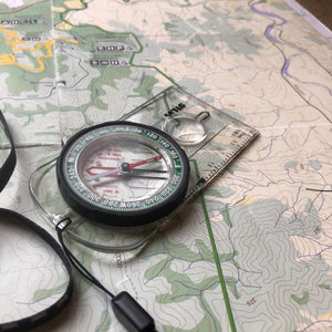 Silva Ranger compass in use on a map