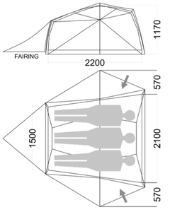 Wilderness Equipment Space 3 tent internal measurements