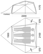 Load image into Gallery viewer, Wilderness Equipment Space-3 Hiking Tent specifications