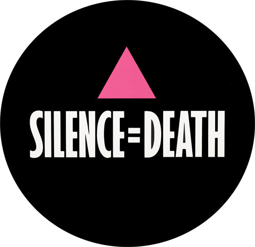 ACT UP Silence Equals Death Retro Badge