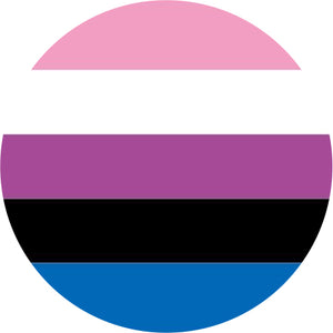 Genderfluid Flag Badge