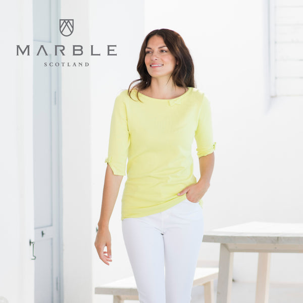 Bow Tie Sleeve, Marble T shirt Top 5601_120