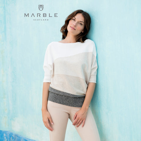 Loose fit Marble Sweater Top 5672_185