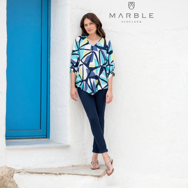 3/4 Sleeve Flowing Top from Marble