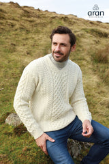 V-Neck Merino Aran Sweater