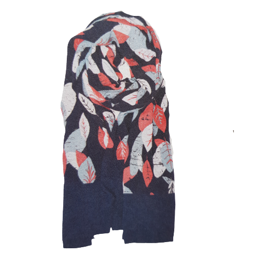Textured Leaf Border Scarf -  Brakeburn 6045