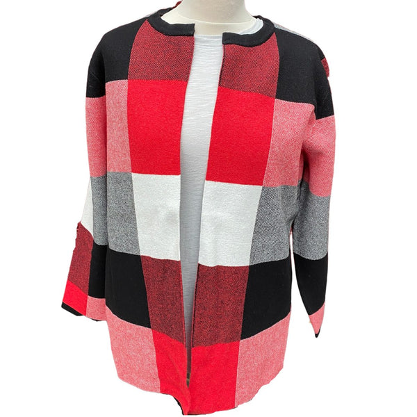 Cardigan Jacket Red Marble 5518