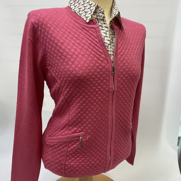 Blush Cardigan with Zip Pockets Knit Pattern - Castle Knitwear