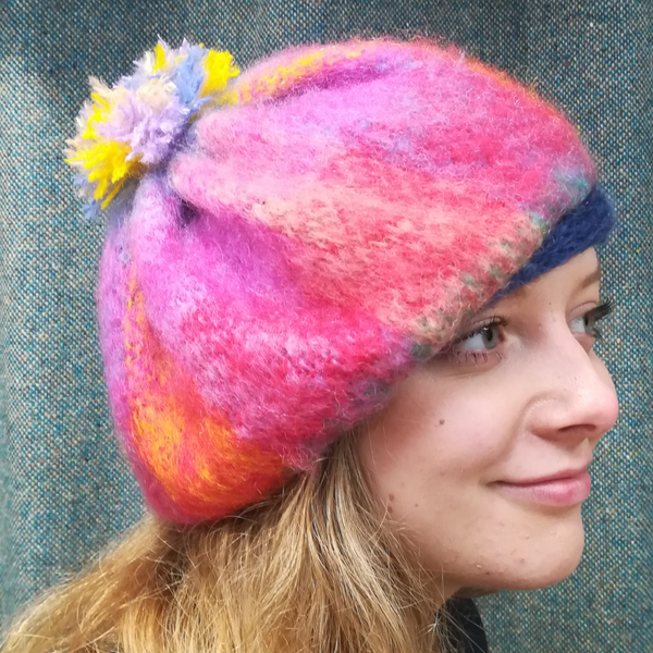Mohair Cap by Donegal Designs One size