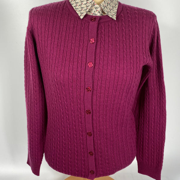 Ladies 100% Merino Lumber Cardigan