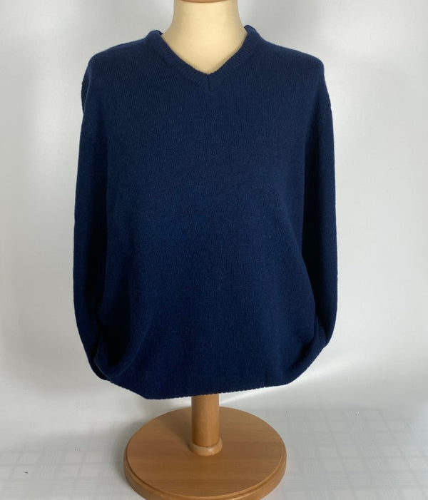 V Neck Mens Lambswool Sweater
