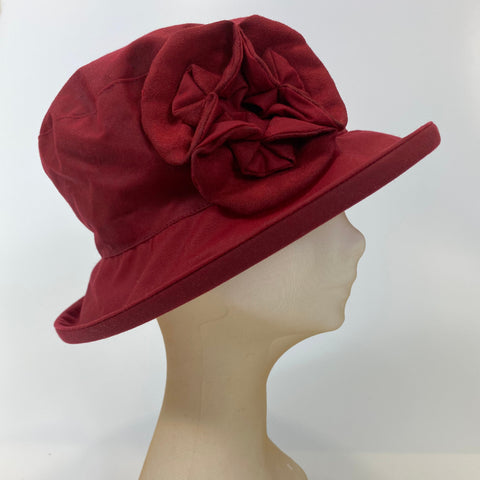 Wax Hat with Flower Design