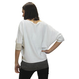 Loose Fit Marble Sweater Top