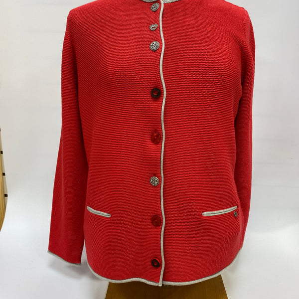 Cardigan Jacket in Chilli Red