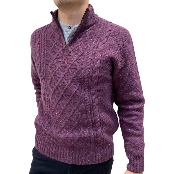 1/4 Zip Mens Sweater