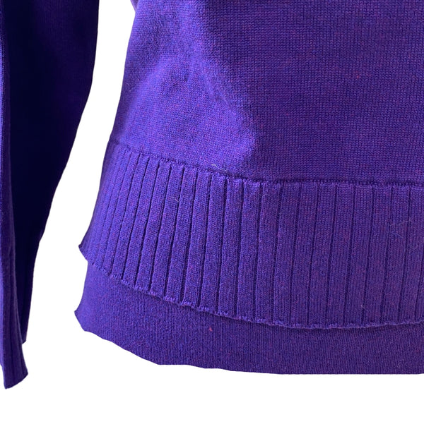 Sweater with Matching Snood in Purple