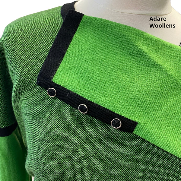 Marble Green V Neck Sweater 5414