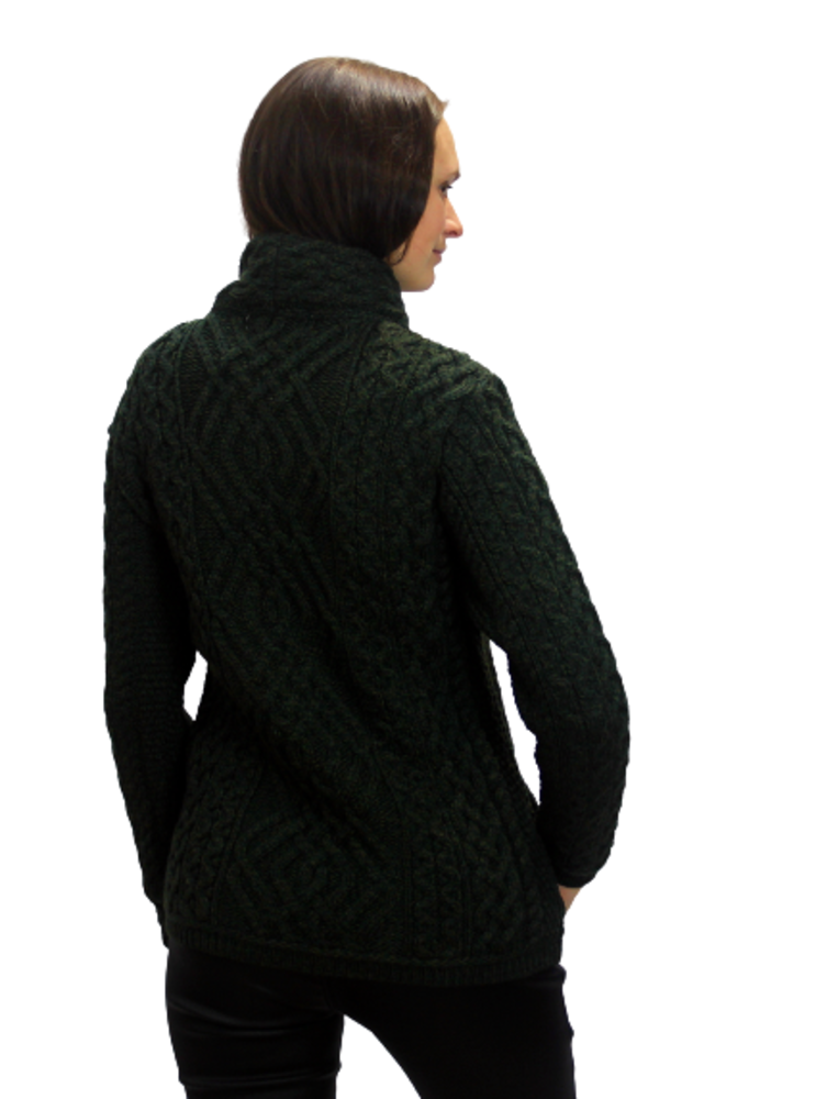 Aran Cardigan with side zip