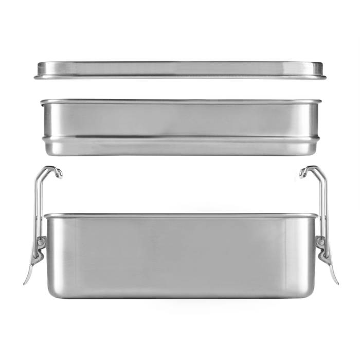 Stainless Steel Lunch Box - Double Tier