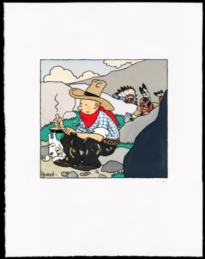 Tintin / Kuifje : Lithographique / Lithografie