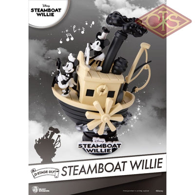 Disney - 90Th Mickey Anniversary Steamboart Willie Diorama (15 Cm) Figurines